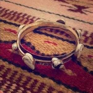 White Buffalo Turquoise Bangle